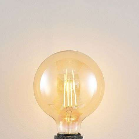 LED lamp E27 G125 6,5W 2.500K amber 3-step-dimmer