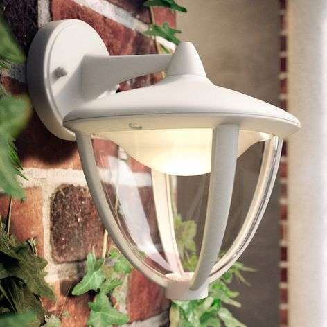 LED outdoor wandlamp Robin in wit