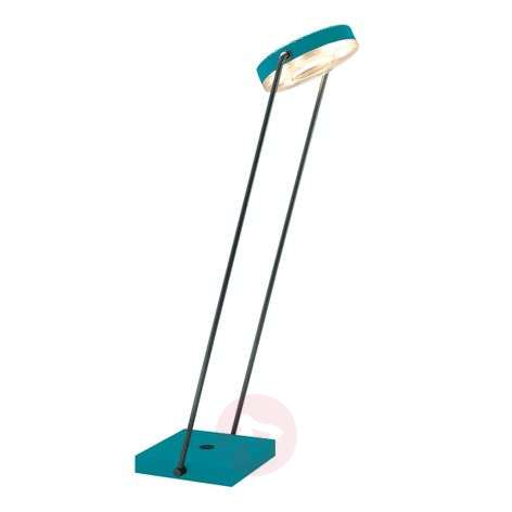 Led-tafellamp TUNE-TS met touchdimmer, turquoise