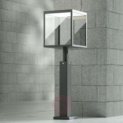 LED tuinpadverlichting Cube, grafiet, IP54, 60 cm