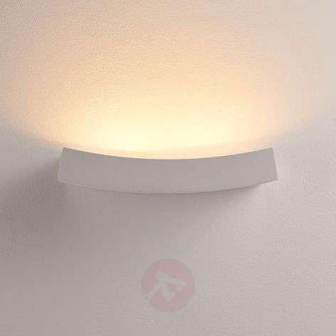 LED uplight wandl. Tiara, gips, G9-lamp dim.