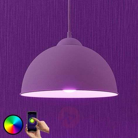Lindby Smart LED hanglamp Bowl 31 cm wit