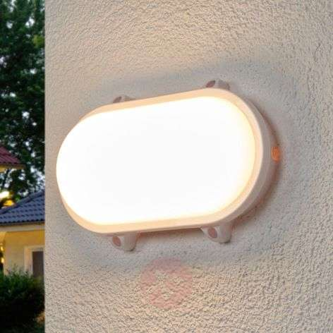 Ovale LED outdoor lamp Manda in wit