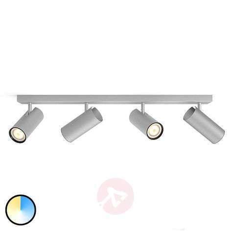 Philips Hue Buratto LED-spot alu, 4-lamps dimmer