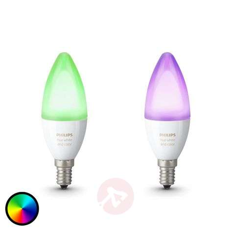 Philips Hue kaarsenlamp RGBW E14 6,5W, set van 2