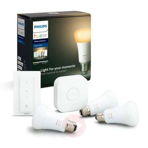 Philips Hue White Ambiance E27 3st start-set