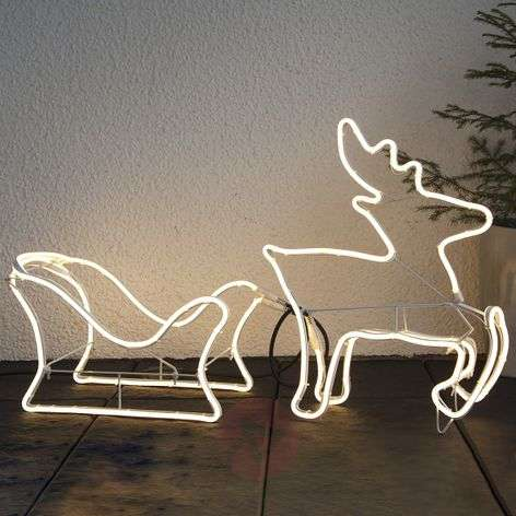 Rendierslee silhouet LED decorfiguur NeoLED-1523461-31