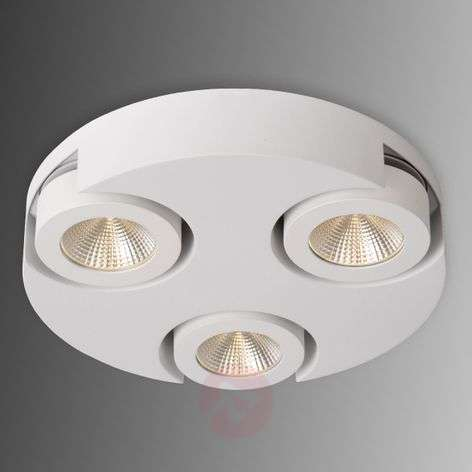 Ronde LED plafondrondel Mitrax in wit