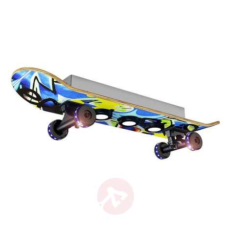 Skateboard LED plafondlamp Easy Cruiser Graffiti
