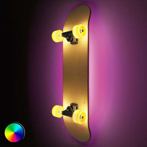 Skateboard met licht - LED-wandlamp Light Cruiser