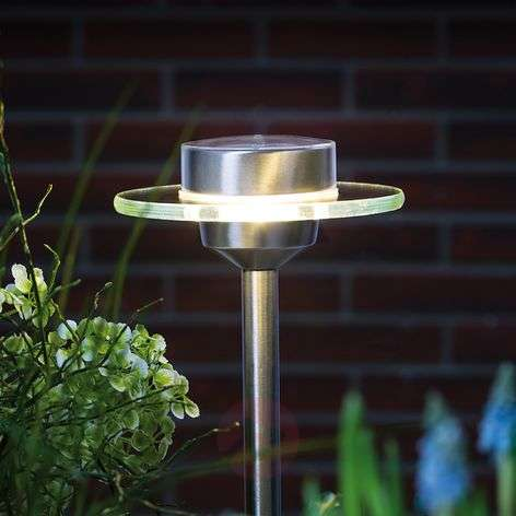 solarlamp Ufo m. LED IP44 uit roestvrij staal