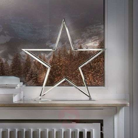 Ster decoratieve lamp Lucy chroom hoogte 50 cm