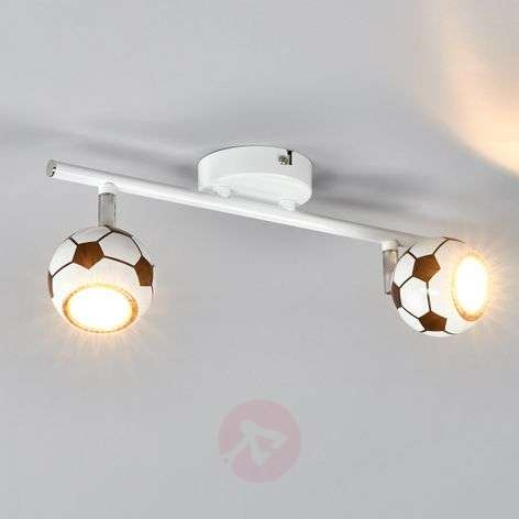 Trendy LED-plafondlamp Play met voetbalpatroon